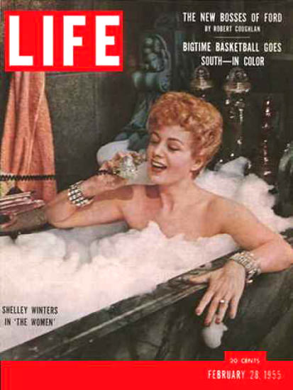 Life Magazine Cover Copyright 1955 Shelley Winters | Sex Appeal Vintage Ads and Covers 1891-1970
