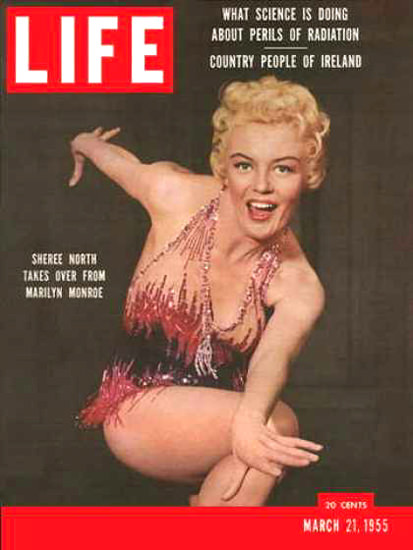 Life Magazine Cover Copyright 1955 Sheree North | Sex Appeal Vintage Ads and Covers 1891-1970