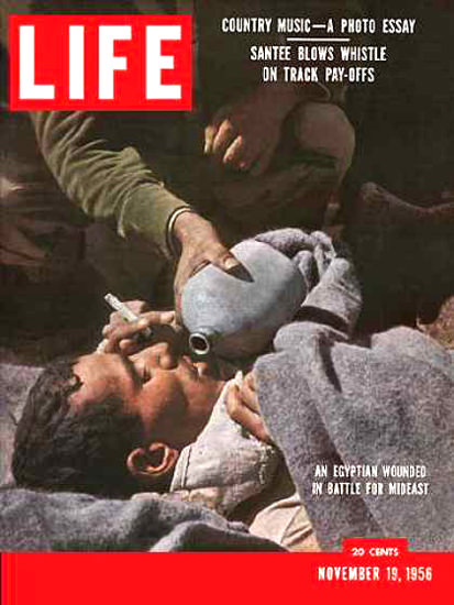 Life Magazine Cover Copyright 1956 Attack On Suez | Vintage Ad and Cover Art 1891-1970