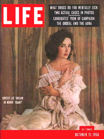 Life Magazine Cover Copyright 1956 Elizabeth Taylor | Sex Appeal Vintage Ads and Covers 1891-1970