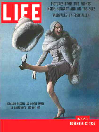 Life Magazine Cover Copyright 1956 Rosalind Russell | Sex Appeal Vintage Ads and Covers 1891-1970