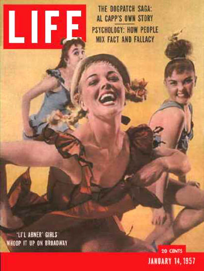 Life Magazine Cover Copyright 1957 Broadways Lil Abner | Sex Appeal Vintage Ads and Covers 1891-1970