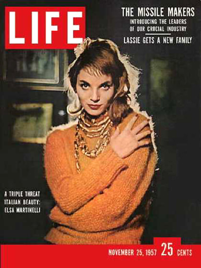 Life Magazine Cover Copyright 1957 Lisa Martinelli | Sex Appeal Vintage Ads and Covers 1891-1970