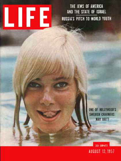 Life Magazine Cover Copyright 1957 May Britt | Sex Appeal Vintage Ads and Covers 1891-1970