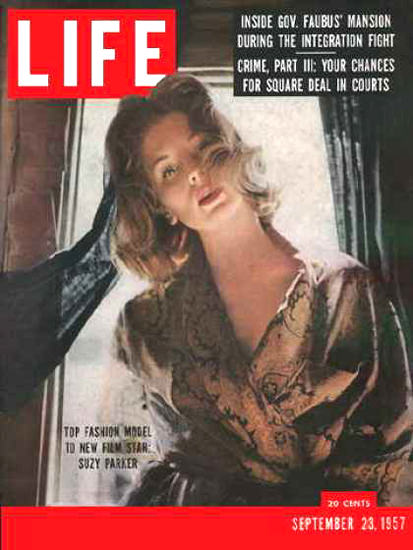 Life Magazine Cover Copyright 1957 Suzy Parker | Sex Appeal Vintage Ads and Covers 1891-1970