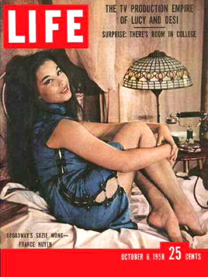 Life Magazine Cover Copyright 1958 France Nuyen | Sex Appeal Vintage Ads and Covers 1891-1970