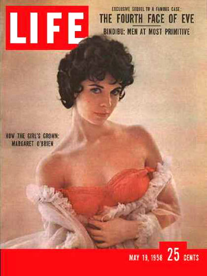 Life Magazine Cover Copyright 1958 Margaret O Brien | Sex Appeal Vintage Ads and Covers 1891-1970