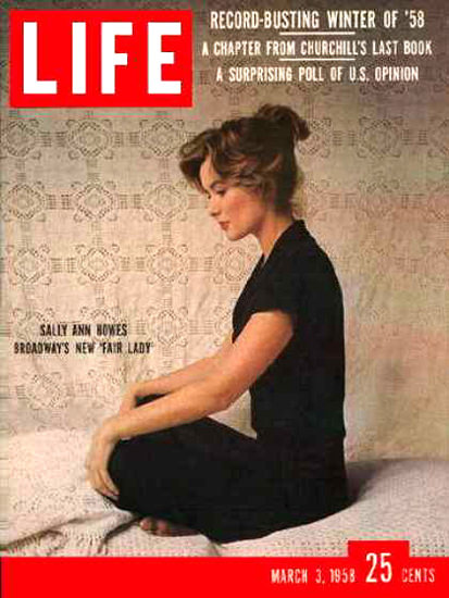 Life Magazine Cover Copyright 1958 Sally Ann Howes | Sex Appeal Vintage Ads and Covers 1891-1970