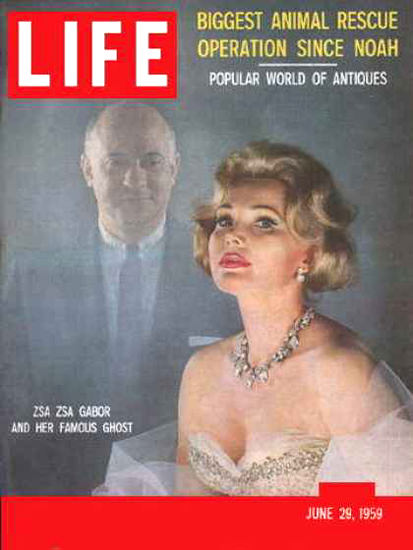Life Magazine Cover Copyright 1959 Zsa Zsa Gabor | Sex Appeal Vintage Ads and Covers 1891-1970
