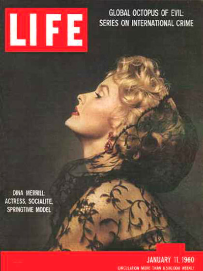 Life Magazine Cover Copyright 1960 Dina Merrill | Sex Appeal Vintage Ads and Covers 1891-1970