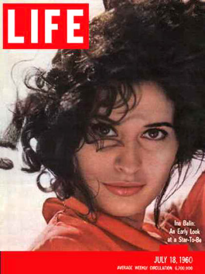 Life Magazine Cover Copyright 1960 Ina Balin | Sex Appeal Vintage Ads and Covers 1891-1970