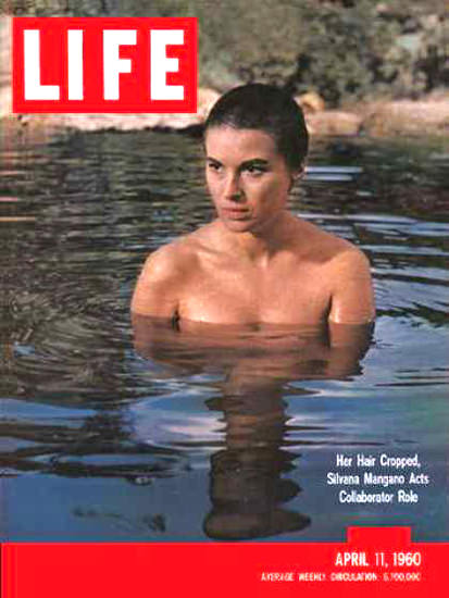 Life Magazine Cover Copyright 1960 Silvana Mangano | Sex Appeal Vintage Ads and Covers 1891-1970