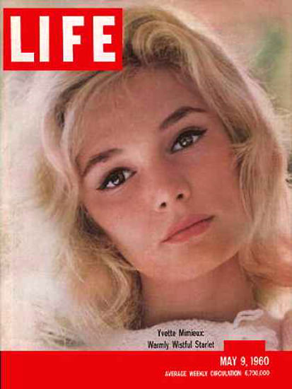 Life Magazine Cover Copyright 1960 Yvette Mimieux | Sex Appeal Vintage Ads and Covers 1891-1970