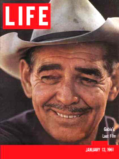 Life Magazine Cover Copyright 1961 Clark Gable Last Film | Sex Appeal Vintage Ads and Covers 1891-1970