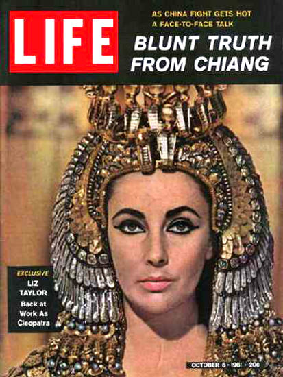 Life Magazine Cover Copyright 1961 Cleopatra Liz Taylor | Sex Appeal Vintage Ads and Covers 1891-1970