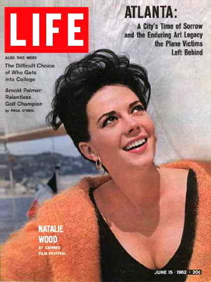Life Magazine Cover Copyright 1962 Natalie Wood | Sex Appeal Vintage Ads and Covers 1891-1970