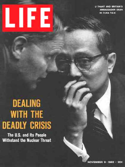 Life Magazine Cover Copyright 1962 Negotiators In Cuba | Vintage Ad and Cover Art 1891-1970