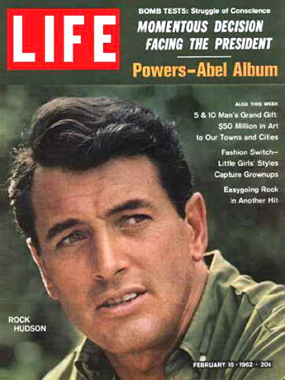 Life Magazine Cover Copyright 1962 Rock Hudson | Sex Appeal Vintage Ads and Covers 1891-1970