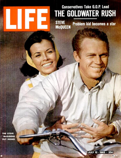 Life Magazine Cover Copyright 1963 Steve McQueen | Sex Appeal Vintage Ads and Covers 1891-1970