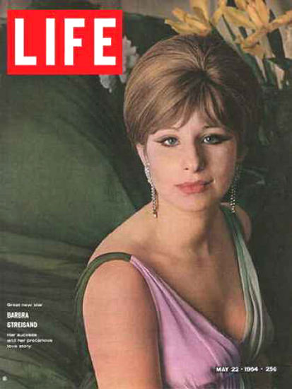 Life Magazine Cover Copyright 1964 Barbra Streisand   Sex Appeal Vintage Ads and Covers 1891-1970