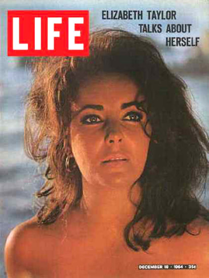 Life Magazine Cover Copyright 1964 Elizabeth Taylor | Sex Appeal Vintage Ads and Covers 1891-1970