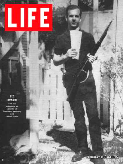 Life Magazine Cover Copyright 1964 Lee Harvey Oswald | Vintage Ad and Cover Art 1891-1970