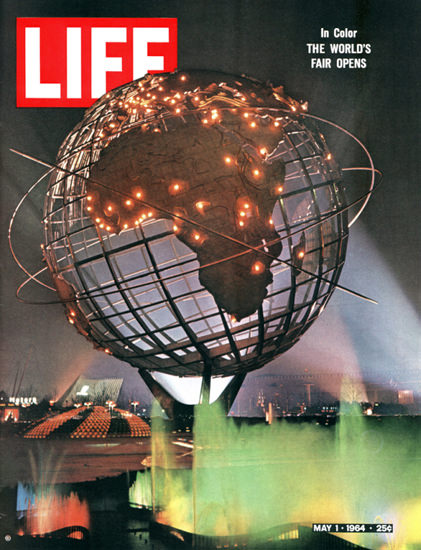 Life Magazine Cover Copyright 1964 The Worlds Fair Opens | Vintage Ad and Cover Art 1891-1970