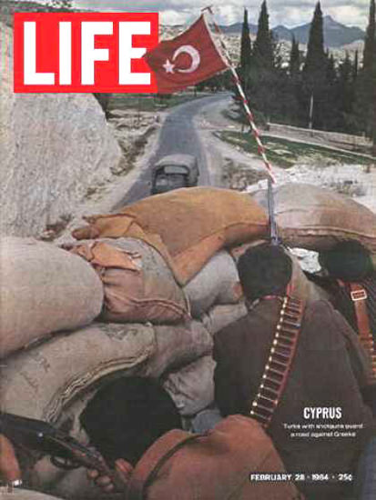 Life Magazine Cover Copyright 1964 War On Cyprus | Vintage Ad and Cover Art 1891-1970