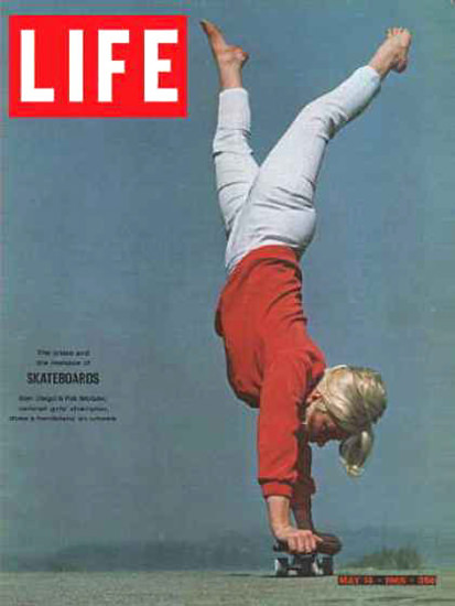 Life Magazine Cover Copyright 1965 Skateboarding | Vintage Ad and Cover Art 1891-1970