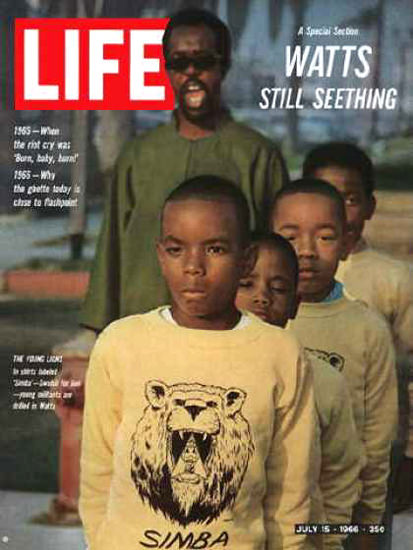 Life Magazine Cover Copyright 1966 Young Black Militants | Vintage Ad and Cover Art 1891-1970