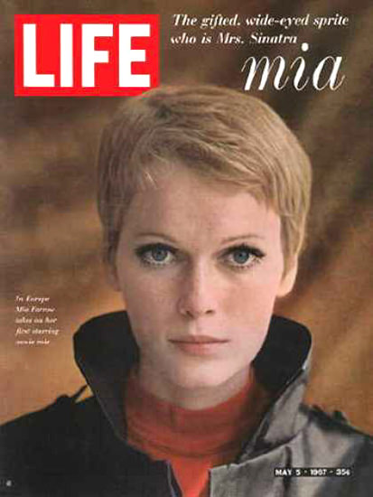Life Magazine Cover Copyright 1967 Mia Farrow | Sex Appeal Vintage Ads and Covers 1891-1970