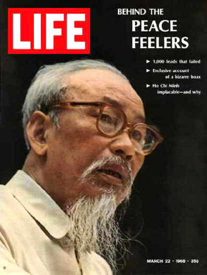 Life Magazine Cover Copyright 1968 Ho Chi Minh | Vintage Ad and Cover Art 1891-1970