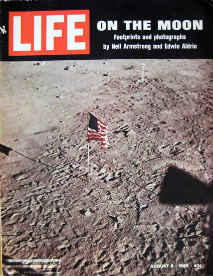 Life Magazine Cover Copyright 1969 On The Moon | Vintage Ad and Cover Art 1891-1970