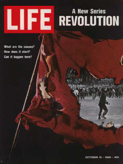 Life Magazine Cover Copyright 1969 Revolution in USA | Vintage Ad and Cover Art 1891-1970