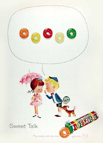 Life Savers 1961 Sweet Talk | Vintage Ad and Cover Art 1891-1970