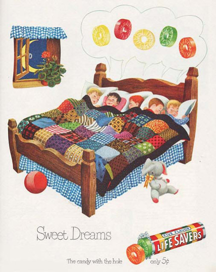 Life Savers Sweet Dreams | Vintage Ad and Cover Art 1891-1970
