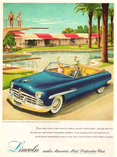 Lincoln 1949 Blue Swimming Pool | Vintage Cars 1891-1970