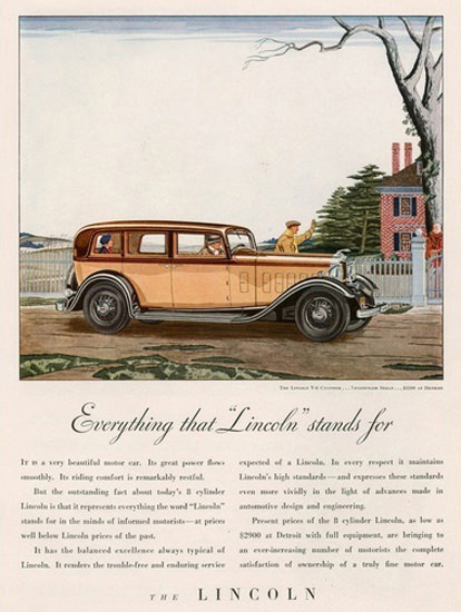 Lincoln 8 Cylinder Automobile | Vintage Cars 1891-1970