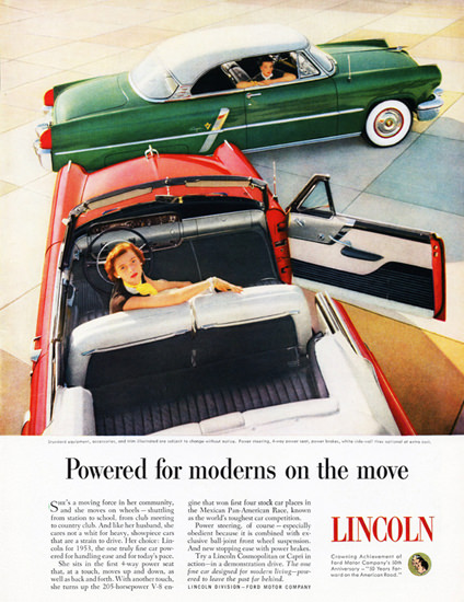 Lincoln Capri Special Coupe N Convertible 1953 | Vintage Cars 1891-1970