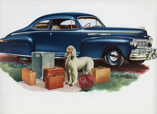 Lincoln Club Coupe 1946 Afghan Hound | Vintage Cars 1891-1970