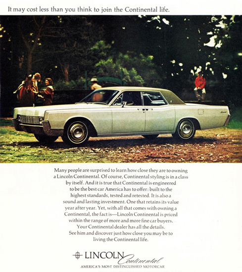Lincoln Continental 1967 Horseback Riding | Vintage Cars 1891-1970