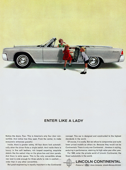 Lincoln Continental Convertible 1963 Like A Lady | Vintage Cars 1891-1970