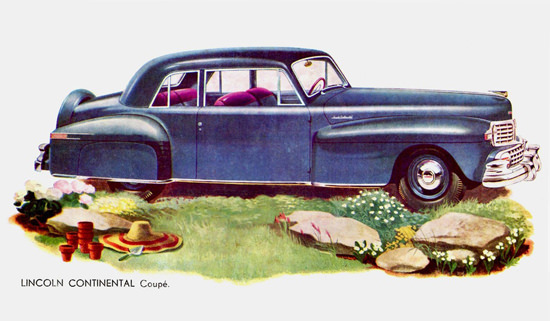 Lincoln Continental Coupe 1946 Blue | Vintage Cars 1891-1970