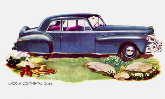 Lincoln Continental Coupe 1947 Blue | Vintage Cars 1891-1970