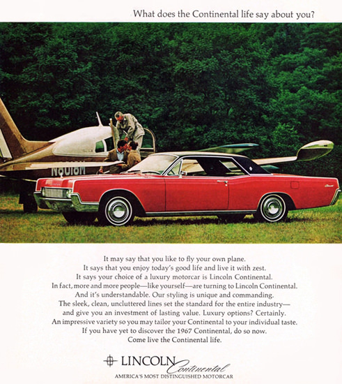 Lincoln Continental Coupe 1967 Sports Airplane | Vintage Cars 1891-1970