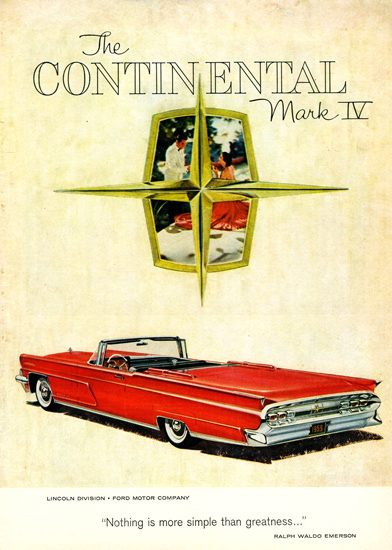 Lincoln Continental Mark IV Convertible 1959 | Vintage Cars 1891-1970