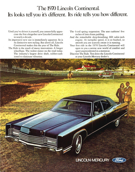 Lincoln Continental Sedan 1970 | Vintage Cars 1891-1970