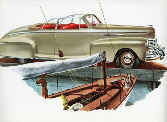 Lincoln Convertible Coupe 1946 Sail Boat | Vintage Cars 1891-1970