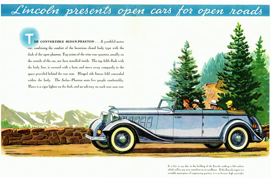 Lincoln Convertible Sedan Phaeton 1934 | Vintage Cars 1891-1970