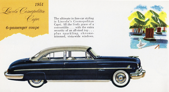 Lincoln Cosmopolitan Capri Coupe 1951 | Vintage Cars 1891-1970